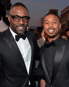 Idris Elba and Michael B. Jordan made a handsome pair at the NAACP Image Awards