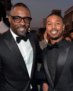 Idris Elba and Michael B. Jordan made a handsome pair at the NAACP Image Awards