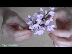 МК Соцветие Сирени из фоамирана укороченная версия - YouTube