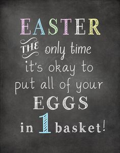 Easter Chalkboard Printable EASTER the only time от StorybookBarn