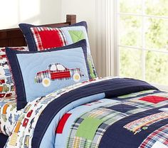 I love the Patrick Transportation Quilt on potterybarnkids.com. So cute! but pricey