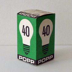 Popp Lightbulb | Vintage Packaging| BOX BOX BOX