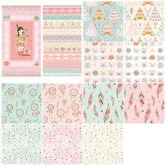 Studioe Assortments Dream Catchers 13pcs x 12yds By Crovatto, Lucie  - 100% Cotton, 44/45in