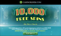 Win 1000 free spins with this promotion, valid until the 9th of March, 2014... read more
