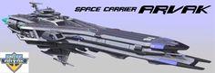 EDF Space Carrier Arvak (Space Battleship Yamato / Star-blazers universe)