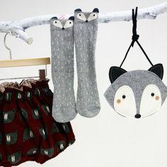 Stadtlandkind - Racoon Socks Grey