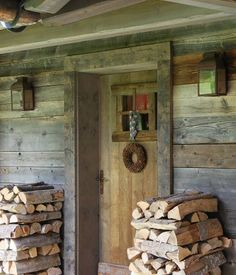 In a cabin, in the woods...