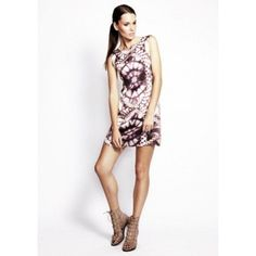 Very Very Dulip TRS Multi Silk Placement Print Shift