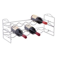 Shop Storage and Organization solutions today. Bottle Rack, Wine Bottle Holders, Cottage Kitchen Inspiration, Stackable Wine Racks, Best Wine Clubs, Wine Rack Storage, Container Store, Storage Organization, Wine Coolers