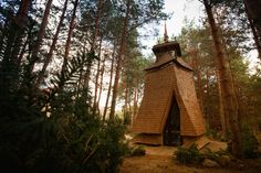 Built by RdsBrothers in Voronkov, Ukraine Silhouette of chapel is taken from traditional Ukrainian wooden church tower. Surroundings of pinewood forest condit...