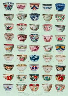 poster Early English teabowls