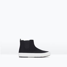 HIGH TOP SNEAKERS WITH SIDE ELASTIC