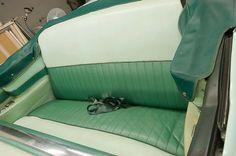 1956 Buick Roadmaster Convertible - Original Rear Seat Upholstery - Before - LeBaron Bonney Company: www.lebaronbonney.com (3)