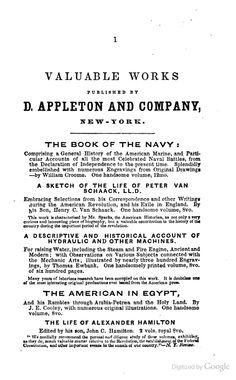 Appleton Catalog from 1842 in The Adventures of Captain John Smith: The Founder of the Colony of Virginia