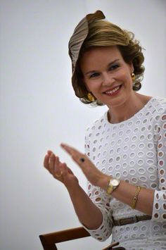 June 2, 2015.. Queen Mathilde of Belgium during the award ceremony of the Queen Elisabeth Violin Competition 2015 at the Queen Elisabeth Music Chapel in Waterloo.