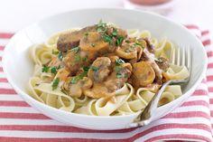 Taste members love a dash of sweet paprika in this scrumptious beef stroganoff recipe.