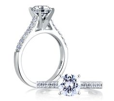 Cathedral Classic Engagement Ring | A. Jaffe