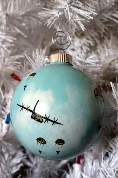 Christmas paratrooper army airborne ornament