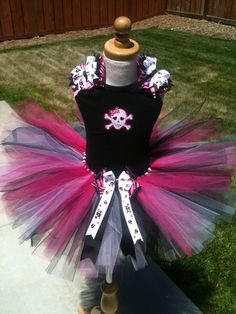 Girlie Skull TuTu Set with Tank Top by ButterflyBowtique on Etsy, $43.00