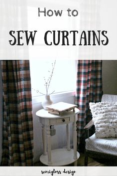 38 trendy home diy curtains how to make No Sew Curtains, Kids Curtains, Home Curtains, How To Make Curtains, Easy Curtains, Diy Sewing Table, Sewing Diy, Sewing Hacks, Curtain Tutorial