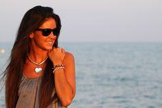 Mi Moda Me Quiere con el collar corazón de cristal y la pulsera con pinchos SEATLE:  http://www.marbcnshop.com/es/pulseras/63-pulsera-seatle.html