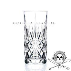Klassisches Highball Glas der Serie Melodia von RCR aus Florenz, Italien. Geniessen/servieren sie ihre Drinks mit Stil.