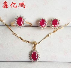 Like and Share if you want this  18 k gold inlaid natural Burmese ruby jewelry pendant necklaces earrings female suit ring Fashion princess style     Tag a friend who would love this!     FREE Shipping Worldwide     Get it here ---> http://onlineshopping.fashiongarments.biz/products/18-k-gold-inlaid-natural-burmese-ruby-jewelry-pendant-necklaces-earrings-female-suit-ring-fashion-princess-style/