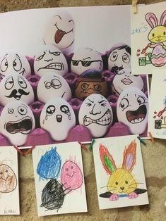 Huevos de pascua, durante el mes de abril, Semana Santa Thing 1, Eggs, Easter Eggs, Shells, Colors, Egg, Egg As Food