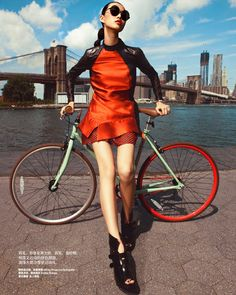 Tian Yi Goes Coast to Coast for the 26th Anniversary Issue of Harpers Bazaar China. Love the layers in this photograph.