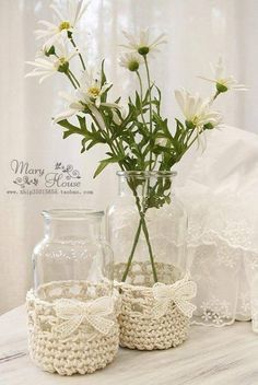Diy jars with Daisies
