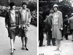 Những chiếc váy của Coco Chanel những năm 1920s. Mũ chuông, tóc Bob, những chiếc áo khoác và váy eo thấp là mốt thịnh hành những năm 20s tại Paris Pháp và các nơi khác trên thế giớ, thiết kế của Coco Chanel đã làm mưa làm gió trên thị trường thời trang, khách hàng của bà có ở khắp nơi trên thế giới!