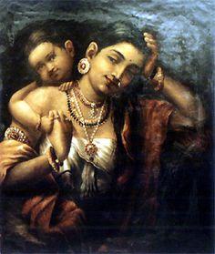 lithographic arts of india Ravivarma Paintings, Indian Paintings, Painting Gallery, Art Gallery, Raja Ravi Varma, Royal Indian, Indian Arts And Crafts, Baby Krishna, Buddha Sculpture
