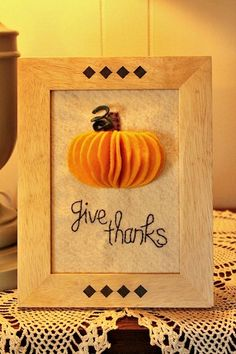 Since there's not a lot of Thanksgiving decor out there- make your own!