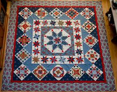 from Connie's Crafts - this would make a great intermediate quilt class quilt Anna.