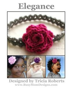 Crochet Pattern - Elegance Headband - Easy Headband - All Sizes - by Busy Mom Designs - Kindle edition by Tricia Roberts. Crafts, Hobbies & Home Kindle eBooks @ Amazon.com.