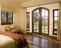 Beautiful bedroom with Walnut hardwood floors.