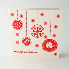 'Flurry' Letterpress Christmas Card