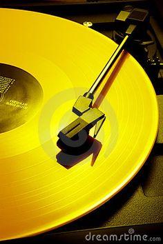 Yellow record by 350jb, via Dreamstime
