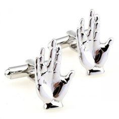 Silent Hand silver Hand novelty steel plating modeling cufflink