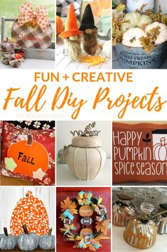 Spend the weekend in your craft room making these fun and creative fall DIY projects! You'll come away totally stocked up to decorate for the season! Thanksgiving Crafts, Holiday Crafts, Rustic Thanksgiving, Autumn Crafts, Fall Projects, Diy Craft Projects, Craft Ideas, Crafts To Do, Diy Crafts