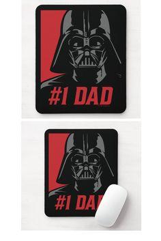 Darth Vader #1 Dad Stencil Portrait Mouse Pad. Star Wars Gift Ideas For Star Wars Lovers, Men, Him. Darth Vader Gift Ideas. Novelty Gifts For Men #StarwarsGift #DarthVader #NoveltyGift #NoveltyGiftsForMen #NoveltyGiftsIdeas #DarthVaderGiftIdeas