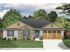 Eplans Ranch House Plan - Four Bedroom Ranch - 1542 Square Feet and 4 Bedrooms from Eplans - House Plan Code HWEPL65724