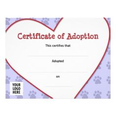 This birth certificate recognizes the adoption of an animal by adopting after first child goes to collage yadclub