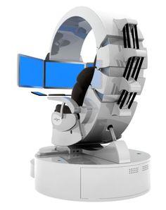 Emperor Workstation, armchair, comfortable, computer, future, futuristic, game place, modern, pc, workplace, Emperor 200, monitors