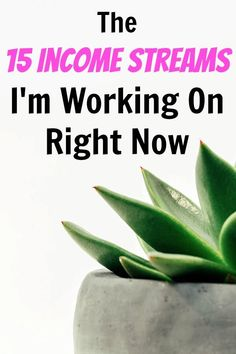 The 15 Income Streams I'm Working on Right Now - Side Hustle Nation Make Money Fast, Make Money From Home, Make Money Online, Extra Cash, Extra Money, Mon Budget, Income Streams, Real Estate Investing, Finance Tips
