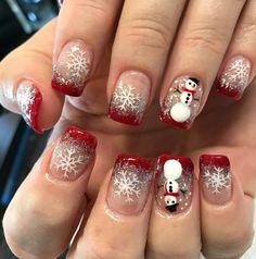 Nails by Vena at Nail Art & Spa Fall Gel Nails, Winter Nails, Christmas Nails, Winter Christmas, Nail Art And Spa, Snowman Nails, Mani Pedi, Have Some Fun, Cute Nails