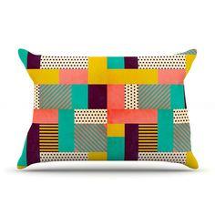 East Urban Home Geometric Love by Louise Machado Abstract Featherweight Pillow Sham
