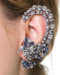 Rhinestone Embellished Earrings