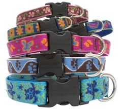 Lupine Collars and Leads are made in the USA (New Hampshire) and available at Sloppy Dog Wash.  Guaranteed, even if chewed!