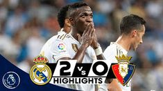 football goals, Highlights, news and everything related to football Real Madrid Vs Osasuna, Real Madrid Highlights, Football, Goals, Baseball Cards, News, Soccer, Futbol, American Football